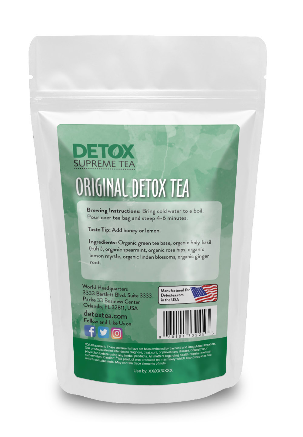 14 Day Detox Tea Back