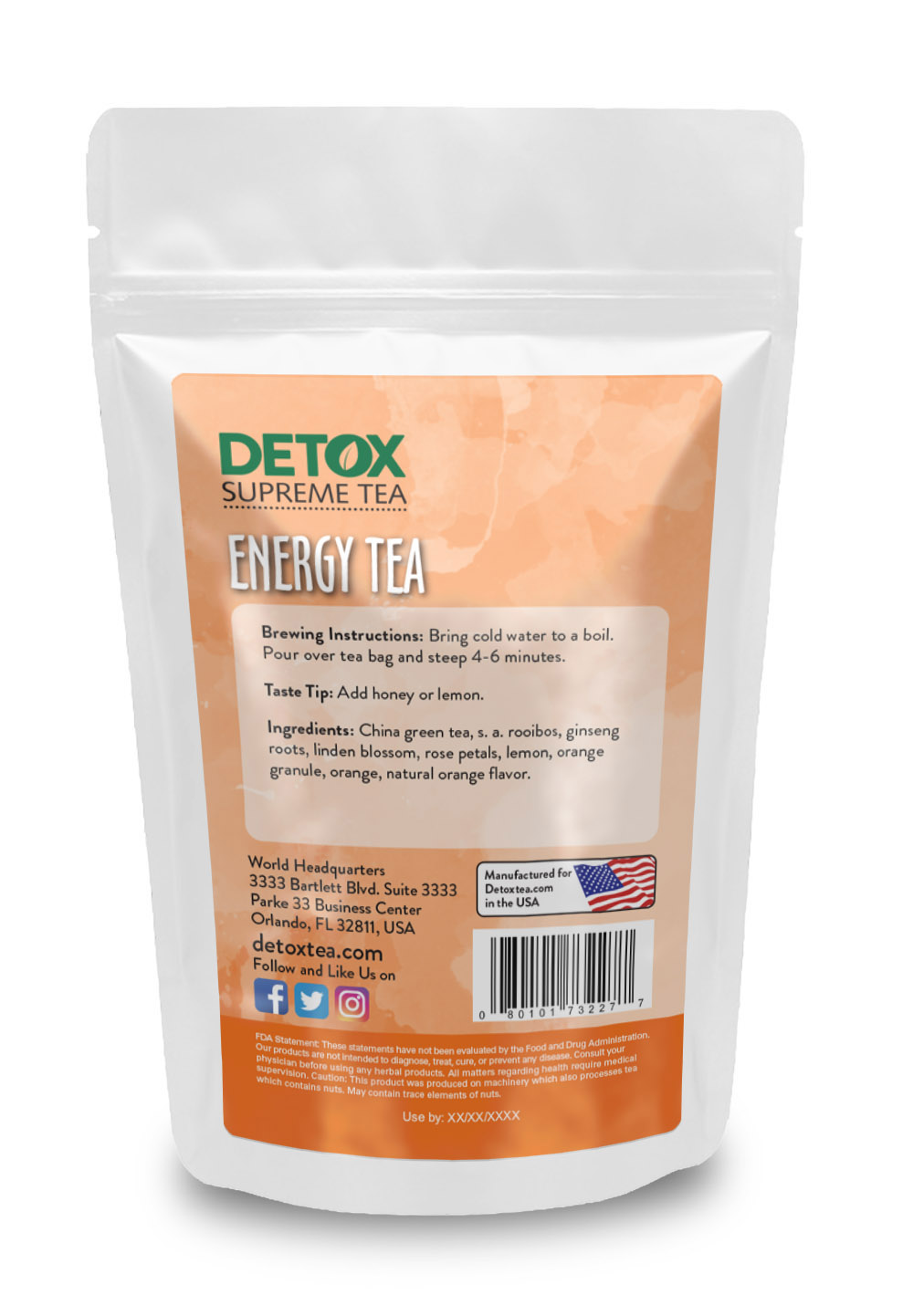 14 Day Energy Tea Back